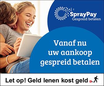 Gespreid betalen via Spraypay